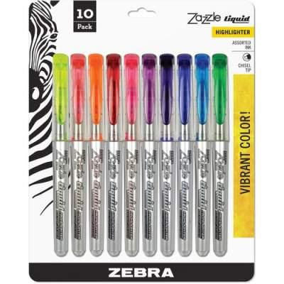 Zebra Pen Zazzle 10-color Fluorescent Highlighters Set (71111)