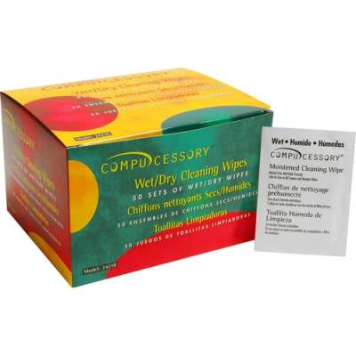 Compucessory Wet and Dry Screen Cleaning Wipes (24218)