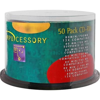 Compucessory CD Rewritable Media - CD-RW - 12x - 700 MB - 50 Pack (72102)