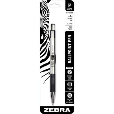 Zebra Pen F-301 Stainless Steel Pens (27211)