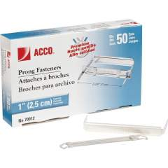 ACCO Standard 2H Punch Premium Prong Fastener Set (70012)