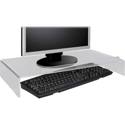 Kantek Acrylic Monitor Stand with Keyboard Storage (AMS300)
