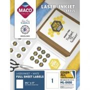 MACO White Laser/Ink Jet Full Sheet Label (ML0100)