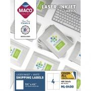 MACO White Laser/Ink Jet Shipping Label (ML0400)