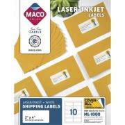 MACO White Laser/Ink Jet Shipping Label (ML1000)