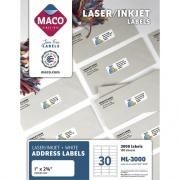 MACO White Laser/Ink Jet Address Label (ML3000)