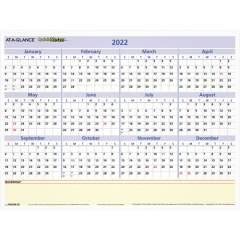AT-A-GLANCE Quicknotes Mini Erasable Yearly Wall Planner (PM550B28)