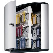 DURABLE Brushed Aluminum Keyed Lock 54-Key Cabinet (195323)