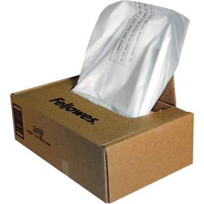 Fellowes Waste Bags for 425 and 485 Series Shredders (3605801)