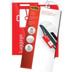 Fellowes Glossy Pouches - Luggage Tag with loop, 5mil 50 pack (52034)
