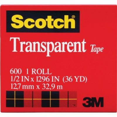 3M Scotch Glossy Transparent Tape (600121296)