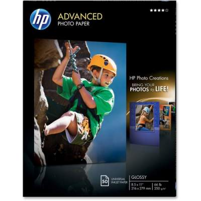 HP Advanced Glossy Photo Paper-50 sht/Letter/8.5 x 11 in (Q7853A)
