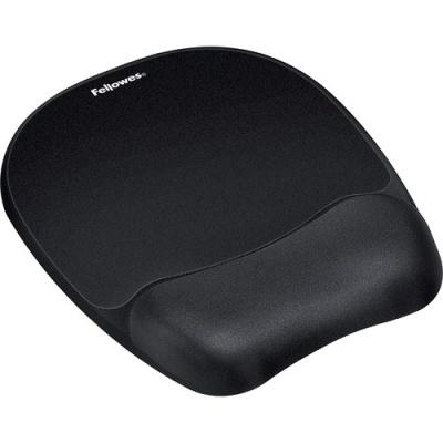 Fellowes Memory Foam Mouse Pad/Wrist Rest- Black (9176501)