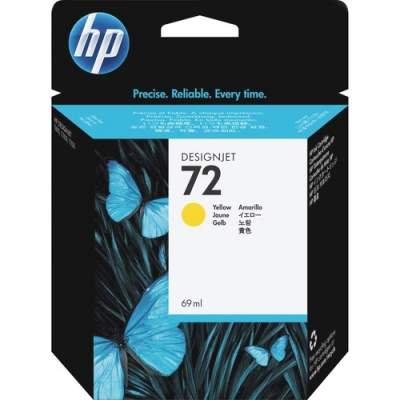HP 72 69-ml Yellow DesignJet Ink Cartridge (C9400A)