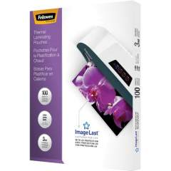 Fellowes Thermal Laminating Pouches - ImageLast, 100/BX (52454)