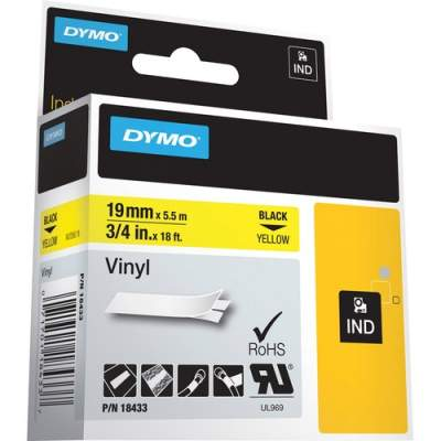 Newell Rubbermaid Dymo Colored Industrial Rhino Vinyl Labels (18433)