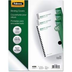 Fellowes Crystals Clear PVC Covers - Letter, 100 pack (52089)