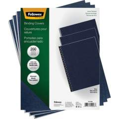 Fellowes Expressions Linen Presentation Covers - Letter, Navy, 200 (52098)