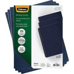 Fellowes Expressions Linen Presentation Covers - Oversize Navy 200 pack (52113)