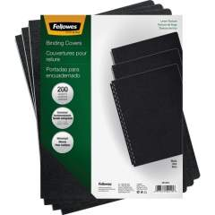 Fellowes Expressions Linen Presentation Covers - Oversize, Black, 200 pack (52115)