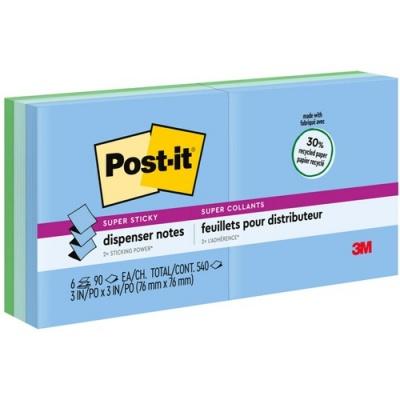 "3M Post-it Super Sticky Pop-up Notes, 3"" x 3"", Bora Bora Collection (R3306SST)"