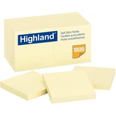 3M Highland Self-Sticking Note Pads (654918PK)