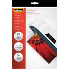Fellowes Glossy Pouches - 5mil, Photo, 25 pack (52010)