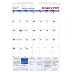 Brownline Ruled Block Wall Calendar (C171101)