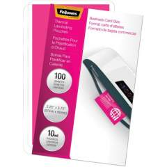 Fellowes Glossy Pouches - Business Card, 10 mil, 100 pack (52058)