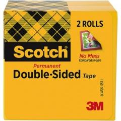 "Scotch Permanent Double-Sided Tape - 1/2""W (6652PK)"