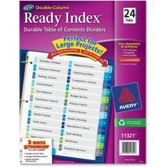 Avery Double Column 24 Tab Dividers, Customizable TOC, 1 Set (11321)