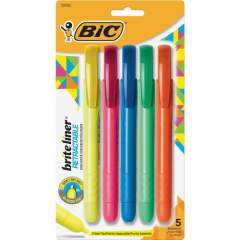 BIC Brite Liner Retractable Highlighters (BLRP51AST)
