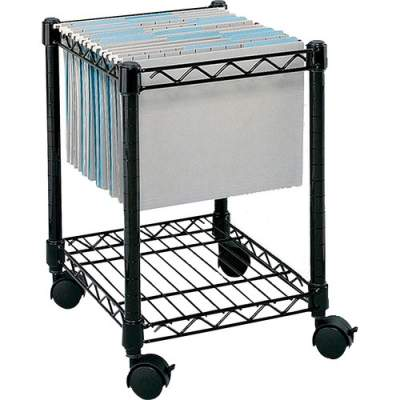 Safco Compact Mobile File Cart (5277BL)