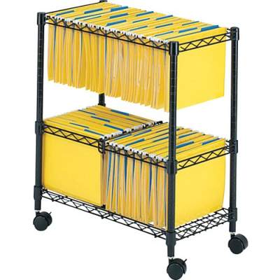 Safco 2-Tier Rolling File Cart (5278BL)