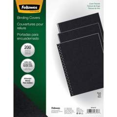 Fellowes Expressions Linen Presentation Covers - Letter, Black, 200 pack (5217001)