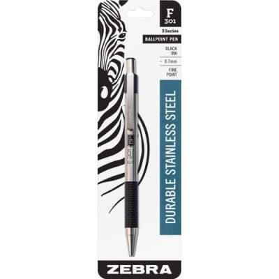 Zebra Pen F-301 Retractable Ballpoint Pen (27111)