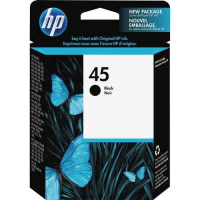HP 45 Black Original Ink Cartridge (51645A)