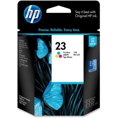 HP 23 Tri-color Original Ink Cartridge (C1823D)