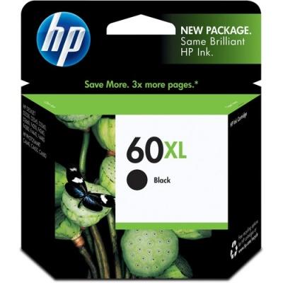 HP 60XL High Yield Black Original Ink Cartridge (CC641WN)