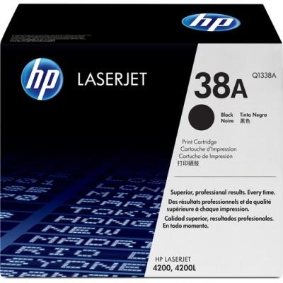 HP 38A Black Original LaserJet Toner Cartridge (Q1338A)