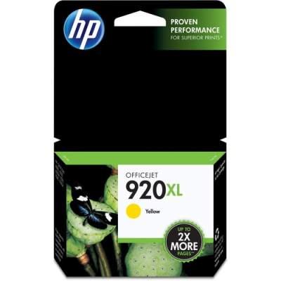 HP 920XL High Yield Yellow Original Ink Cartridge (CD974AN)