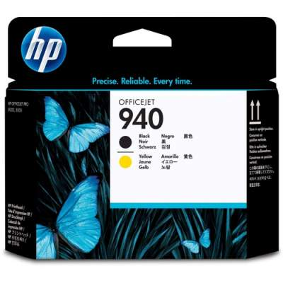 HP 940 Black and Yellow Original Printhead (C4900A)