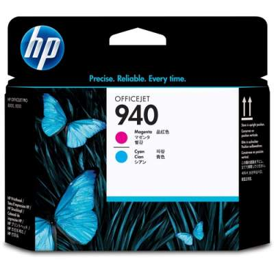 HP 940 Magenta and Cyan Original Printhead (C4901A)