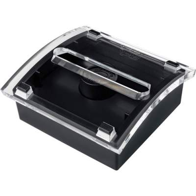 """3M Post-it Pop-up Notes Dispenser, 3""""x 3"""", Black Base Clear Top (DS330-BK)"""