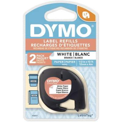 Newell Rubbermaid Dymo LetraTag Electronic Labelmaker Tape (10697)