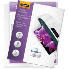 Fellowes Thermal Laminating Pouches - ImageLast, Jam Free, Letter, 3 mil, 50 pack (52225)