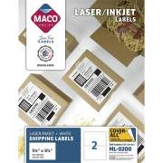 MACO White Laser/Ink Jet Internet Shipping Label (ML0200)