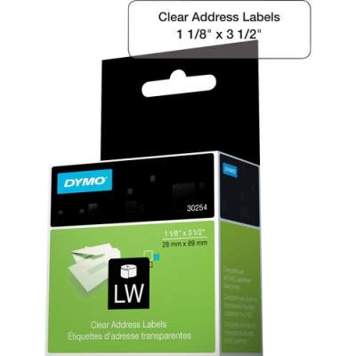 Newell Rubbermaid Dymo Clear Address Labels (30254)