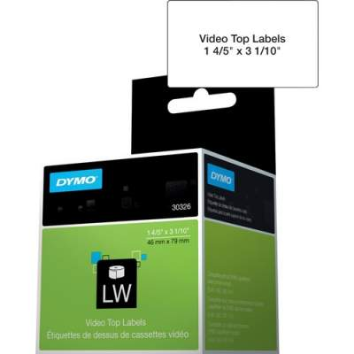 Newell Rubbermaid Dymo LabelWriter Video Spine Labels (30326)