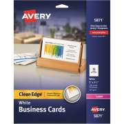 "Avery Clean Edge(R) Business Cards, Uncoated, Two-Side Printing, 2"" x 3-1/2"", 200 Cards (5871)"